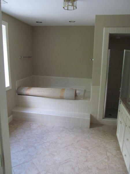 A show of a bathroom before a custom remodel.